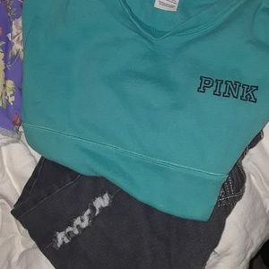 VS PINK- long sweatshirt good condition.